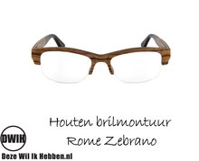 Houten brilmontuur - Rome