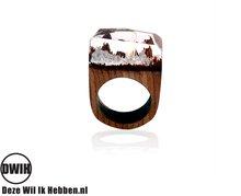 Houten hars ring blank