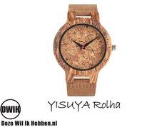 Houten horloge: YISUYA Rolha