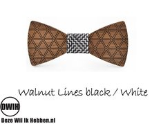 Walnut lines Black / White