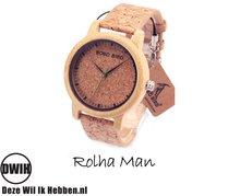 Houten horloge: Rolha Man