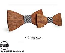 Houten strik Vader & Zoon: Shadow