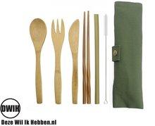 Bamboe bestek set, 6 delig