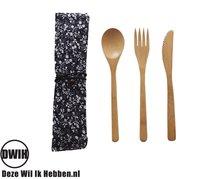 Bamboe bestek set, 3 delig